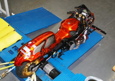 Race Bike on Dyno